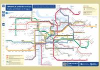 Карта общественного транспорта Прага